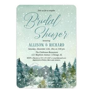 Rustic mountains and snow couples bridal shower invitation starting at 2.75