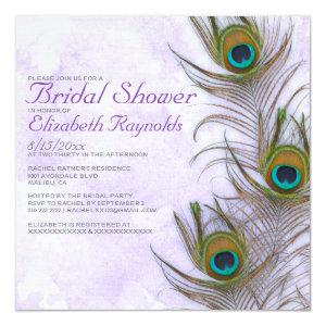Rustic Peacock Feather Bridal Shower Invitations starting at 2.51