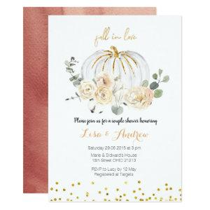 Rustic Pumpkin Fall in Love Couples Shower Invitation starting at 2.66
