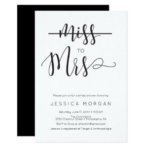 Rustic Script Miss to Mrs Bridal Shower Invite starting at 1.95