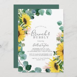 Rustic Sunflower Brunch and Bubbly Bridal Shower Invitation starting at 2.51