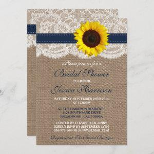 Rustic Sunflower, Burlap & Lace Bridal Shower starting at 2.45