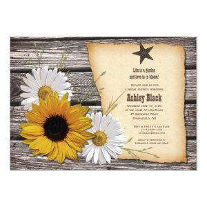 Rustic Sunflower Daisy Bridal Shower Invitation starting at 2.66