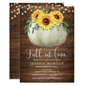 Rustic Sunflower Fall in Love Bridal Shower Invite starting at 2.35