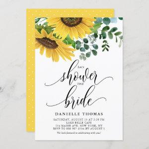 Rustic Sunflowers and Eucalyptus Bridal Shower Invitation starting at 2.40