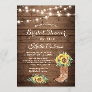 Rustic Sunflowers Boots Cowgirl Bridal Shower starting at 2.35