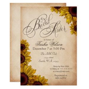 Rustic Sunflowers Bridal Shower Invitations starting at 2.50