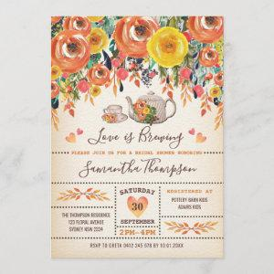 Rustic Tea Bridal Shower / Fall Autumn Floral starting at 2.56