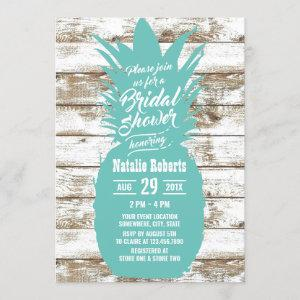 Rustic Teal Pineapple Tropical Beach Bridal Shower starting at 2.40