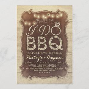rustic vintage BBQ couples shower invitation starting at 2.35