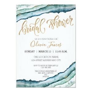 Rustic Watercolor Agate Bridal Shower Invite starting at 2.35