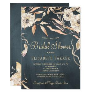 Rustic watercolor dahlias chalkboard bridal shower invitation starting at 2.20