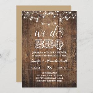 Rustic we do BBQ couples shower Invitation starting at 2.50