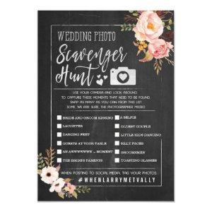 Rustic Wedding Photo Scavenger Hunt I Spy Game Invitation starting at 3.25