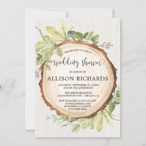Rustic wedding shower forest woods invitation starting at 2.55