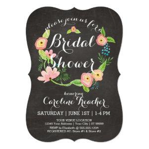 Rustic Whimsical Granny Chic Hipster Chalkboard Invitation starting at 3.17
