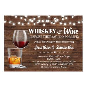 Rustic whiskey & wine before I do couples shower Invitation starting at 2.55