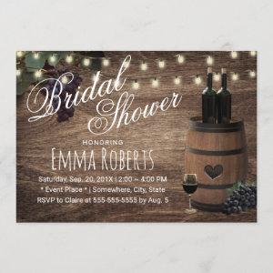 Rustic Wine Barrel Country Winery Bridal Shower Invitation starting at 2.40