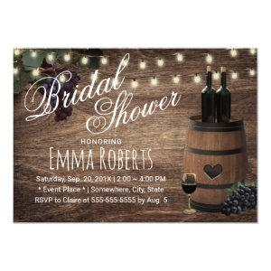 Rustic Wine Barrel Country Winery Bridal Shower Invitation starting at 2.15