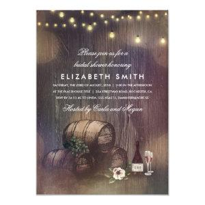 Rustic Winery Lights Wine Tasting Bridal Shower Invitation starting at 2.35