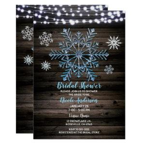 Rustic Winter Snowflakes & Lights Bridal Shower Invitation starting at 2.51