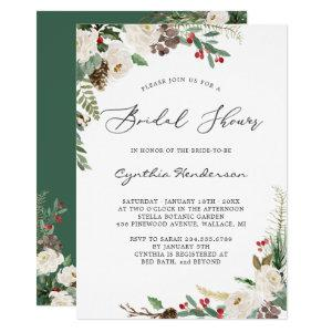 Rustic Winter Themed Floral Berries Bridal Shower Invitation starting at 2.10
