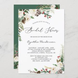 Rustic Winter Themed Floral Berries Bridal Shower Invitation starting at 2.30