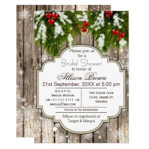 Rustic Winter Woodland Bridal shower Invitation starting at 2.50
