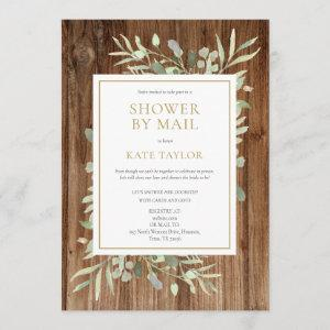 Rustic Wood Bridal Shower By Mail Greenery Invitation starting at 2.51