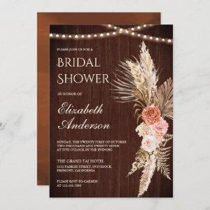 Rustic Wood Earthy Floral Pampas Bridal Shower starting at 2.66