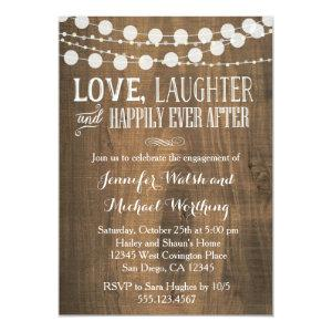 Rustic Wood Engagement Party Invitation starting at 2.40