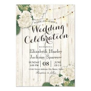 Rustic Wood Floral String Light Wedding Invitation starting at 2.40
