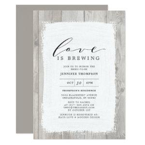 Rustic Wood Love Is Brewing Bridal Shower Invitation starting at 2.66
