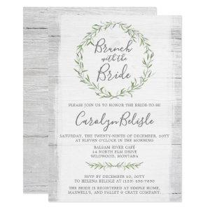 Rustic Wood Wreath Bridal Shower Brunch Invitation starting at 2.15