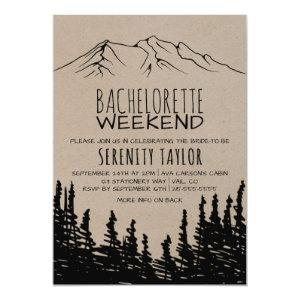 Rustic Woodsy Mountain Bachelorette Weekend Invitation starting at 2.51