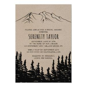 Rustic Woodsy Mountain Bridal Shower Invitation starting at 2.51