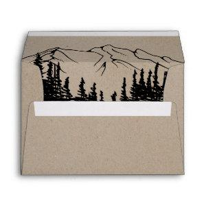 Rustic Woodsy Mountain Wedding Invitation Envelope starting at 0.85