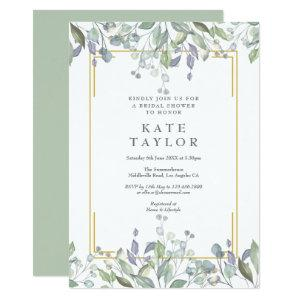 Sage and Lilac Floral Bridal Shower Invitation starting at 2.51