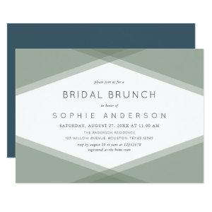Sage Layered Geometric & Blue Slate Bridal Brunch Invitation starting at 2.26