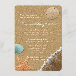Sand and Shells Beach Baby Shower Invite starting at 2.46