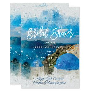Santorini Greece bridal shower invitation starting at 2.51