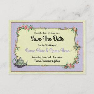 Save The Date Wonderland Purple Teapot Tea starting at 2.31
