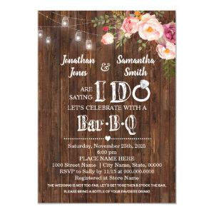 Saying I do barbeque stock the bar wedding shower Invitation starting at 2.55