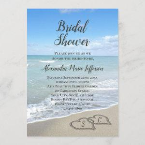 Scenic Hearts in the Sand Beach Bridal Shower starting at 2.65