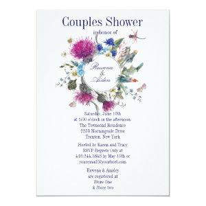 Scottish Thistle Floral Couples Wedding Shower 3 Invitation starting at 2.71