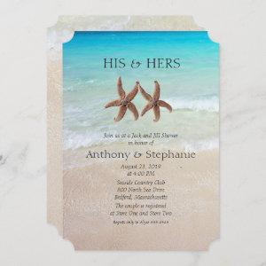 Sea and Sand Couple's Wedding Shower Invitation starting at 2.80