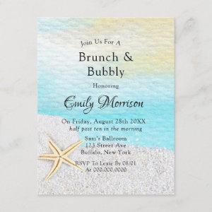 Seaside Beach White Sand Brunch and Bubbly Invitation starting at 2.20