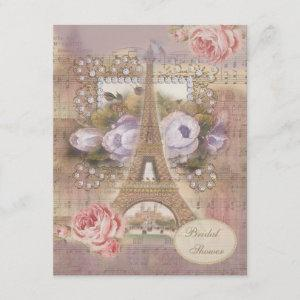 Shabby Chic Eiffel Tower Floral Bridal Shower starting at 2.31