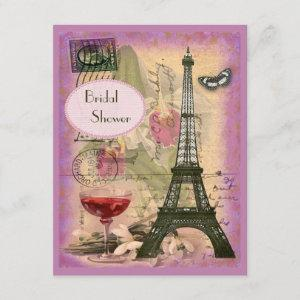 Shabby Chic Eiffel Tower & Red Wine Bridal Shower starting at 2.31