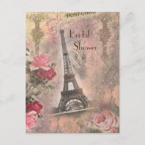 Shabby Chic Eiffel Tower & Roses Bridal Shower starting at 2.31